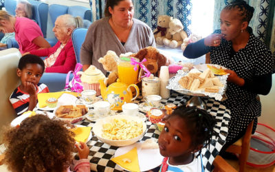 National Teddy Bear Day tea party at Lukestone Care Home