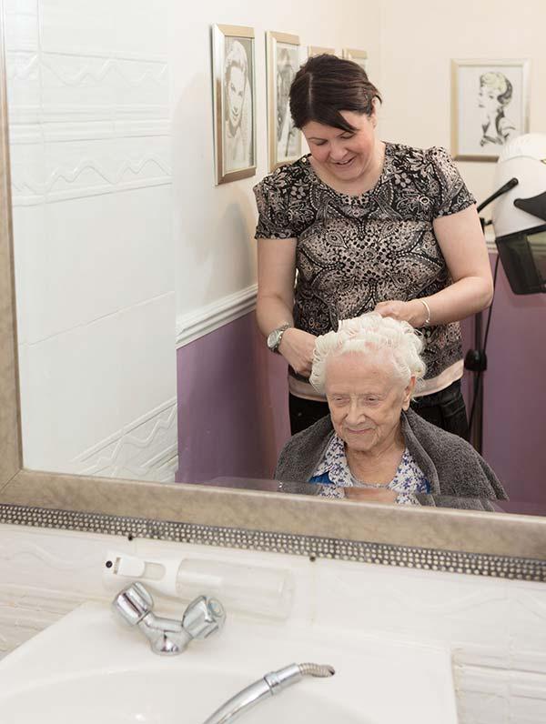 Resident at On Site Hair Salon