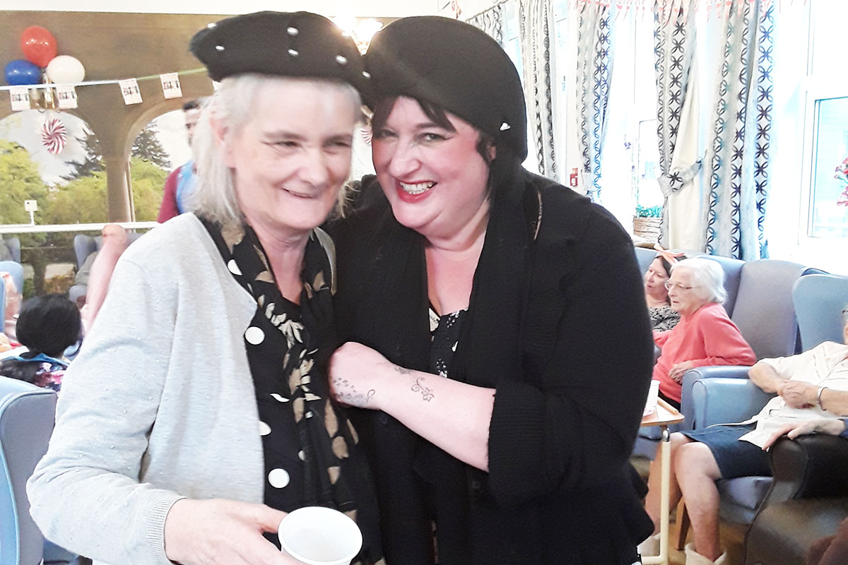 1940s themed party fun at Lukestone Care Home