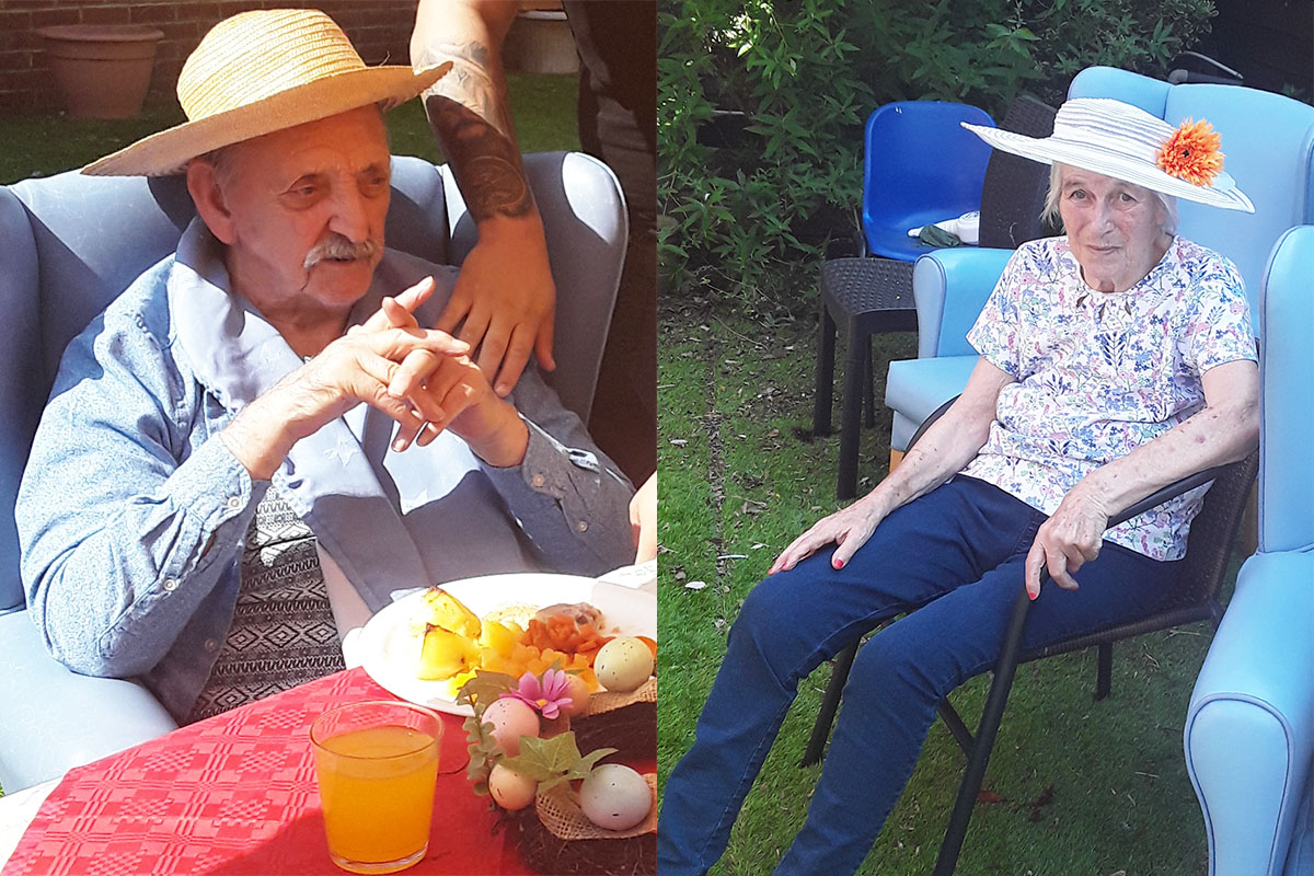 Lukestone Care Home residents enjoy an Easter party in the sun