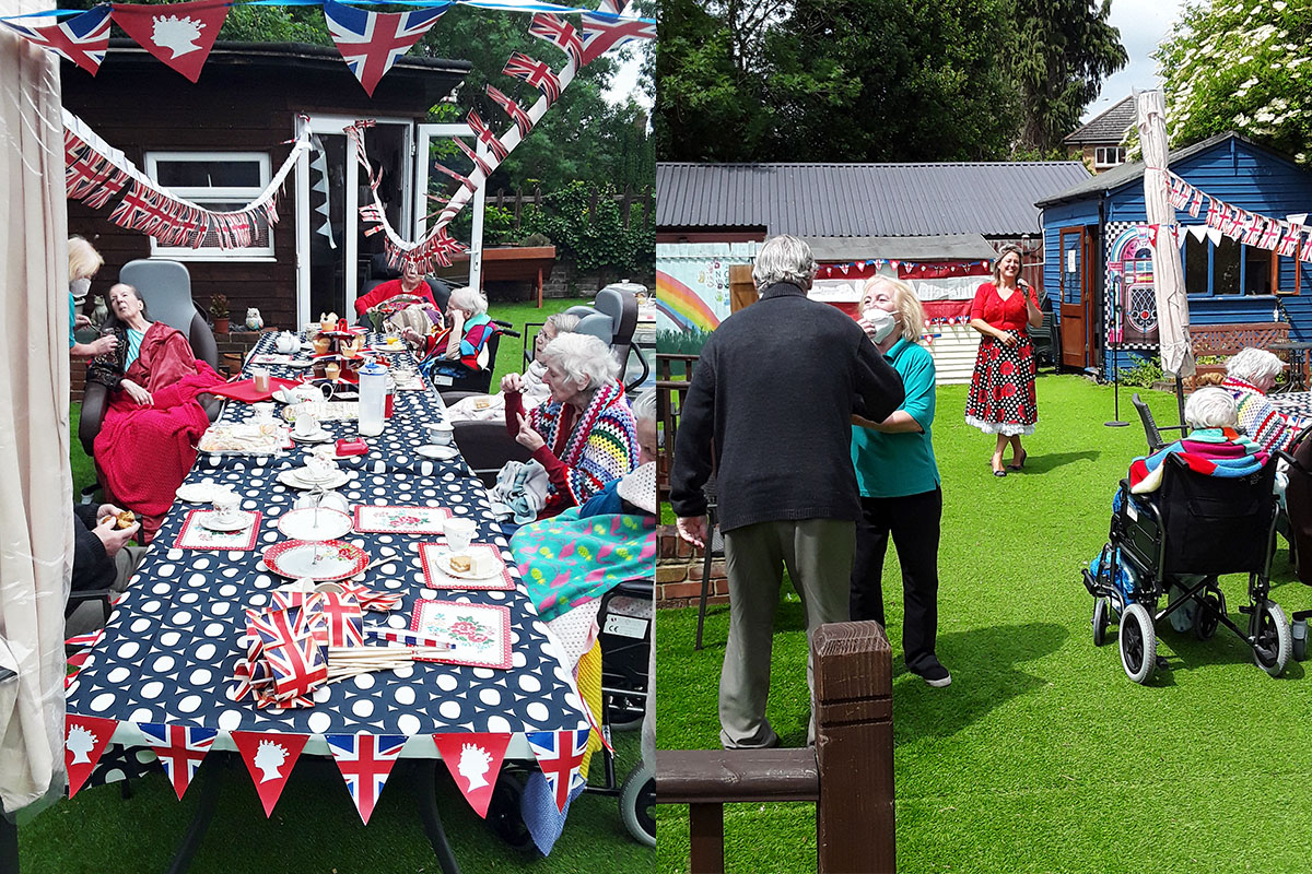 Queens birthday afternoon tea party at Lukestone Care Home