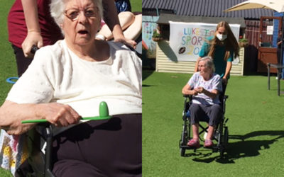 From sack races to volleyball at Lukestone Care Home
