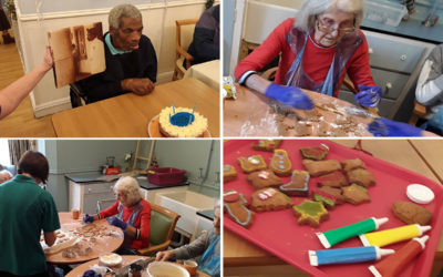 Birthday celebrations and baking at Lukestone Care Home