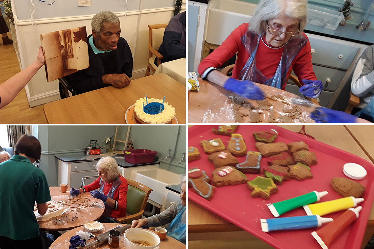 Birthday celebrations and baking at Lukestone Care Home
