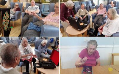 Lukestone Care Home residents enjoy classic vinyl and games