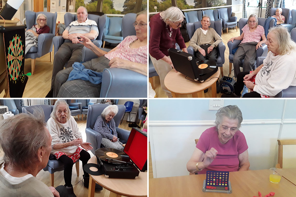 Lukestone Care Home residents enjoy classic vinyl and games