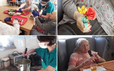Soup making and spring flowers at Lukestone Care Home
