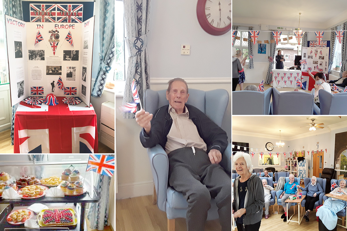 Celebrating VE Day with music and reminiscence at Lukestone Care Home