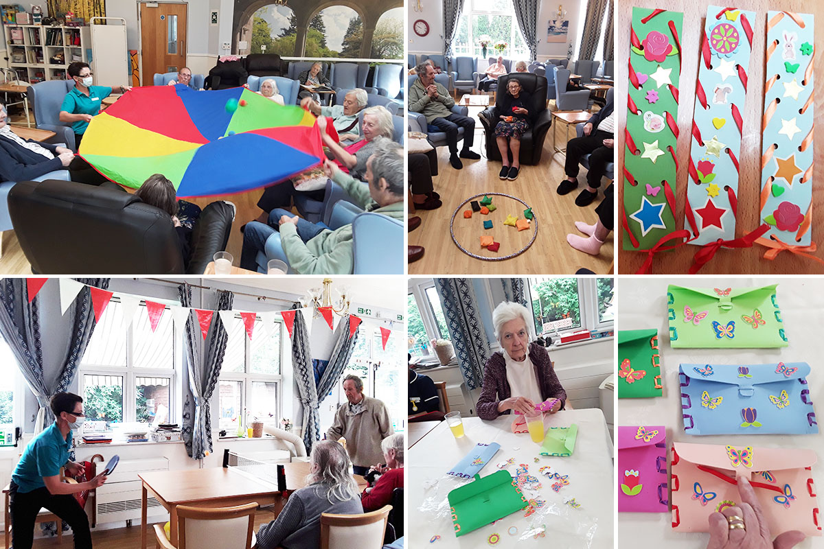 Sporting fun and arts and crafts at Lukestone Care Home